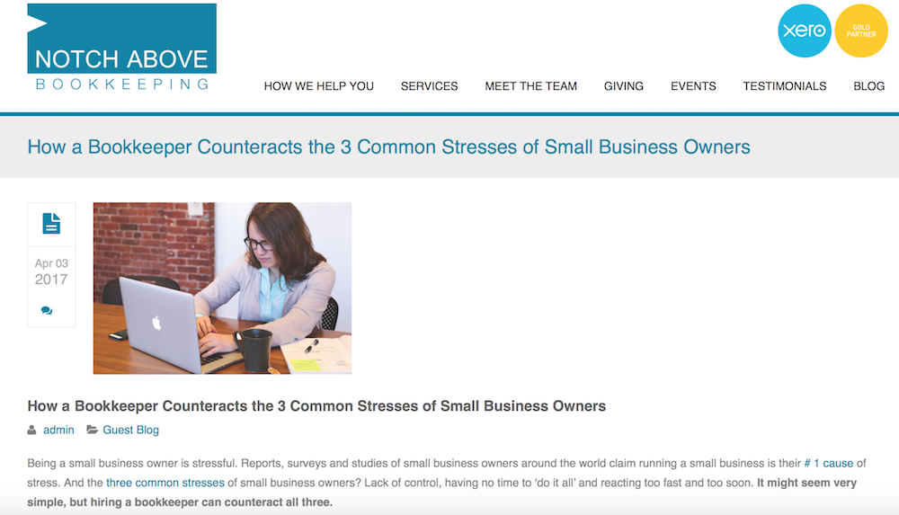 How a Bookkeeper Counteracts the 3 Common Stresses of Small Business Owners